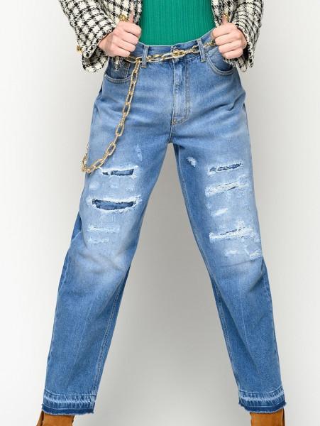 Jeans Destroyed Mom Fit