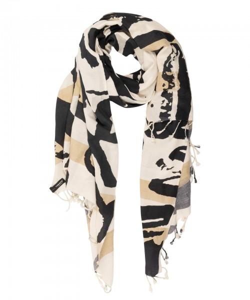 Schal mit einem All-over Brush aus Baumwolle