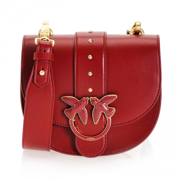 LAST PIECE Handtasche Umhängetasche Rot Leder Love Round Bag - weiter reduziert