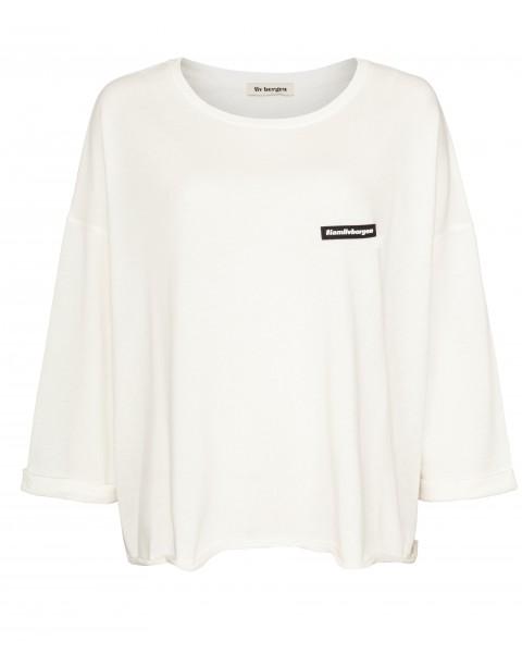 Sweatshirt mit 3/4 Arm in kastig geschnittener Form Schwarz & Champagne