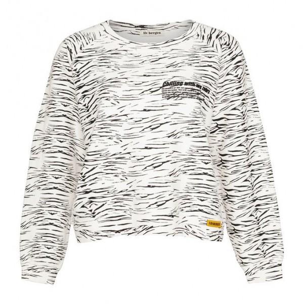 Sweatshirt cropped mit Zebra-Druck
