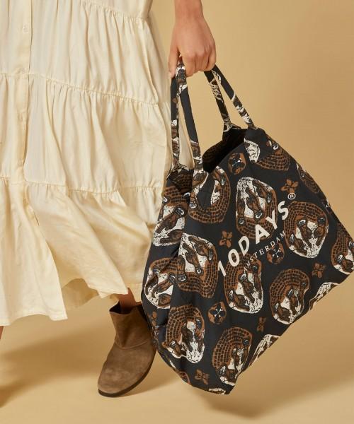 Shopper Strandtasche Canvas mit Ethnoprint