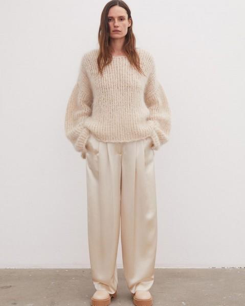 Pullover in leichter Mohair-Mischung Beige