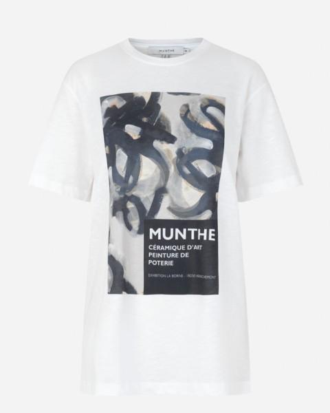 T-Shirt Robin Kunstmotiv Weiß
