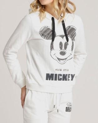 Hoodie Disney Mickey in Offwhite