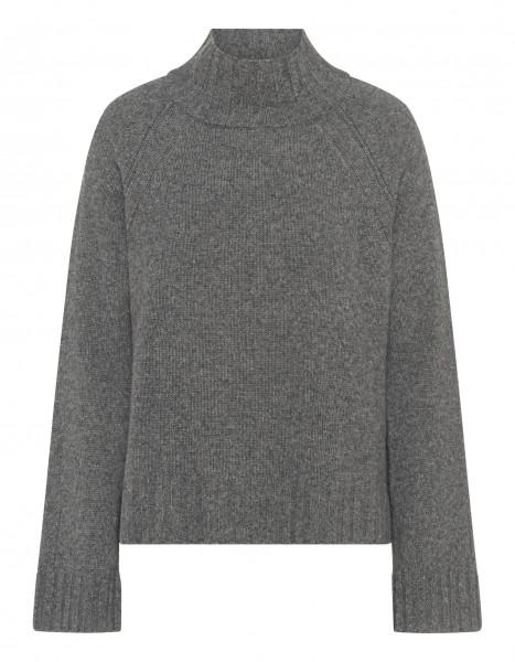 Pullover mit Stehkragen Cashmere in Grau & Schwarz
