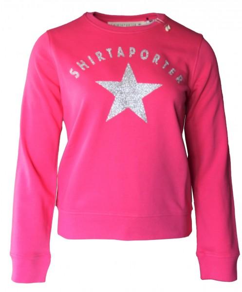 Sweatshirt Organic Cotton Pink mit silbernem Stern