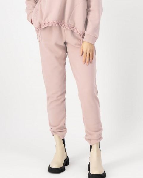 Sweatpants mit kuschelweichem Innenfleece in Rose