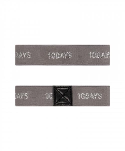 """Elastische Ärmelhalter mit Logo """"Elastic Arm Suspenders"""" Grau"""