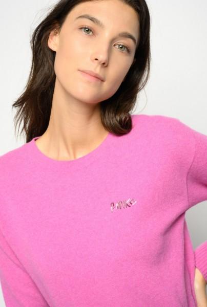 Pullover Rundhals in Grau und Pink