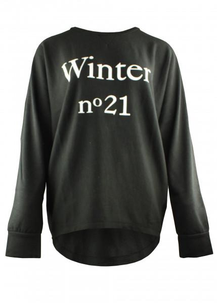 """Sweatshirt ohne Bund """"Winter"""" in Schwarz"""