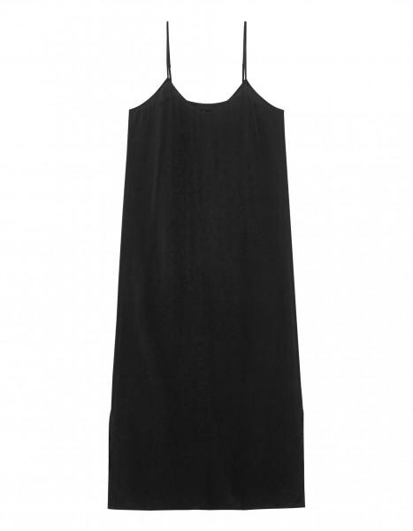 Slip Dress Kleid mit Spaghettiträger in Schwarz