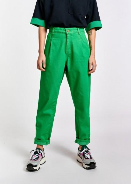 Hose loose fit Color Denim Grün