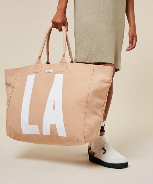 Tasche aus Baumwoll-Canvas in der Farbe Skin.