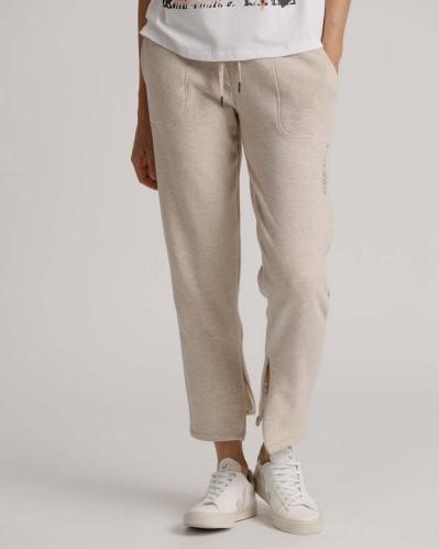 Sweat-Pants mit gold-beigem Tunnelzug