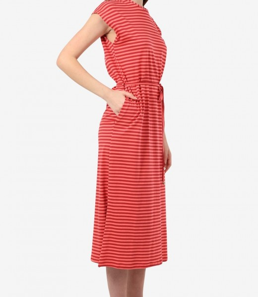 Maxikleid Jersey mit Streifen Rose-Burgundy Organic Cotton