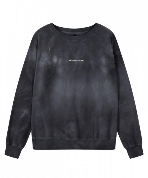 Sweatshirt Tie Dye Print / Batik in der Farbe Grau-Blau