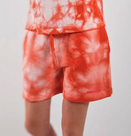 Shorts Lorna Batik in Orangerot