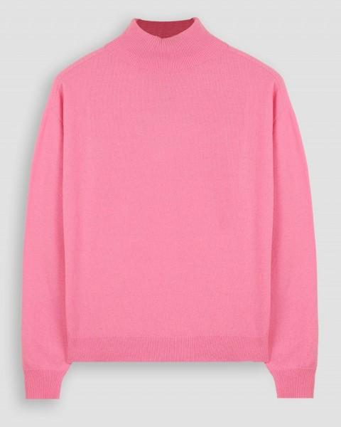 Pullover mit Stehkragen in weicher Merinowollmischung Light Pink