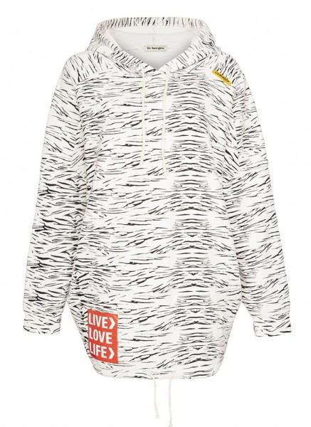 Last Piece Zebra Hoodie, oversized Form