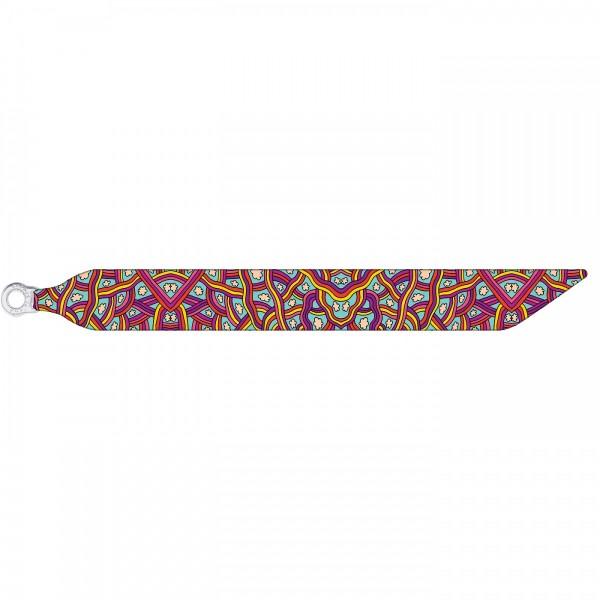 Seidenarmband mit einem versilberten Verschluss mit Muster RAINBOW CLOUDS