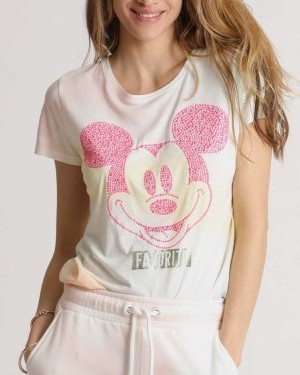 T-Shirt aus Baumwoll-Mix Mickey Batik