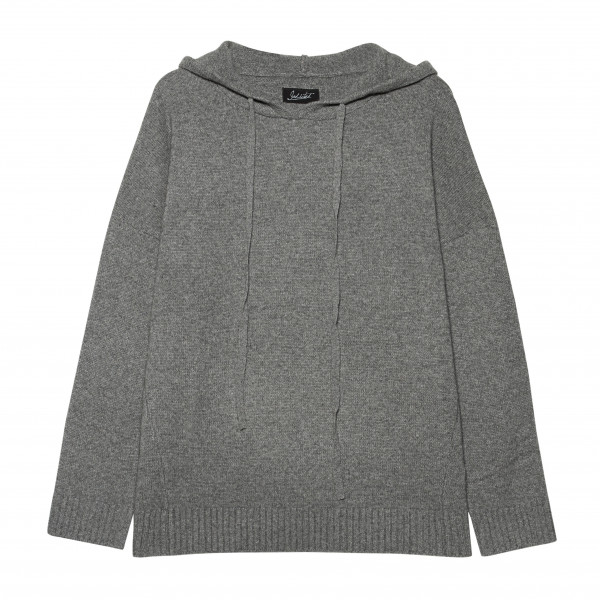 Pullover mit Kapuze Cashmere in Grau und Grün