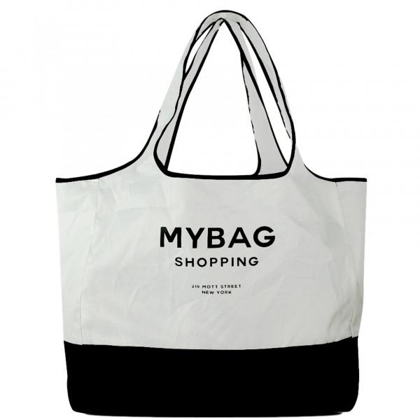 Bag-All Einkaufstasche weiß/schwarz