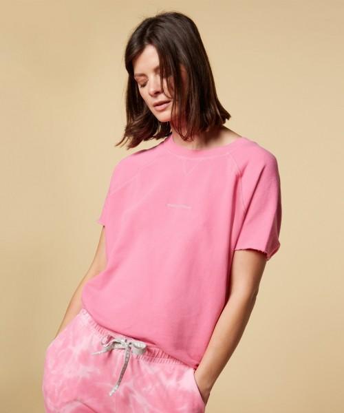 Sweatshirt mit 1/2 Arm in Candy Pink