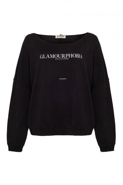 Sweatshirt GLAMOURPHOBIA, stay at home, in Schwarz und Champagner