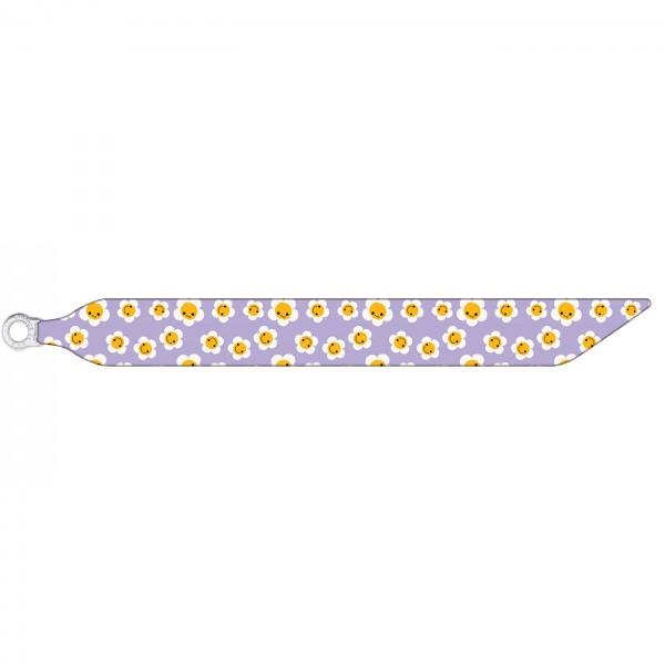 Seidenarmband mit einem versilberten Verschluss mit Muster HAPPY FLOWERS
