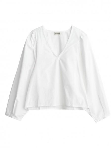 Bluse Diosmara aus Bio Baumwolle in Weiß