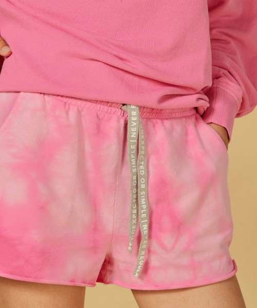 Jersey Shorts Tie Dye in Candy Pink