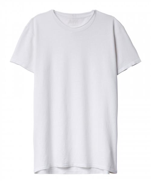 T-Shirt 1/2 Arm in Leinen in Weiß & Schwarz