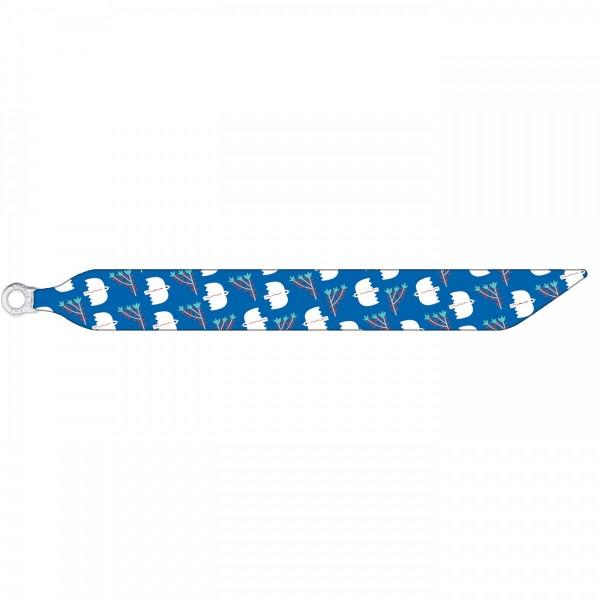 Seidenarmband mit einem versilberten Verschluss mit Muster BIRDS