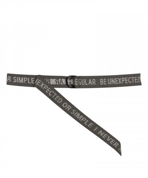 """Gürtel mit Aufschrift """"Elastic Belt"""" Pink, Schwarz, Grau"""