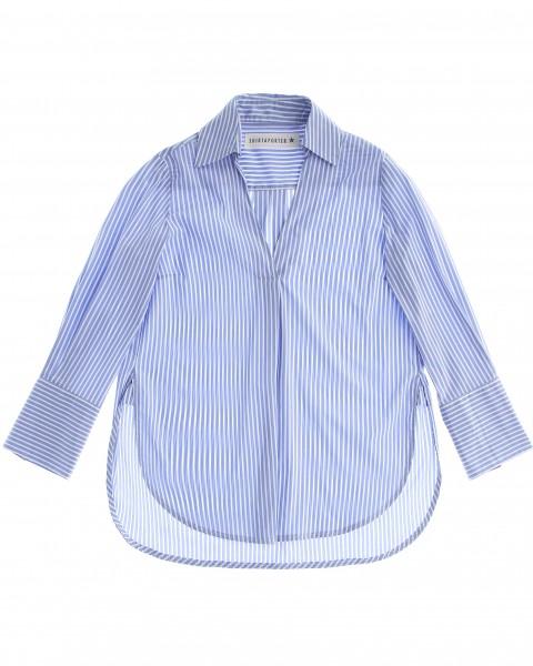 Tunika Hemd mit Streifen in Blau
