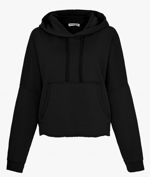 Hoodie Sweatshirt cropped organic cotton in Schwarz