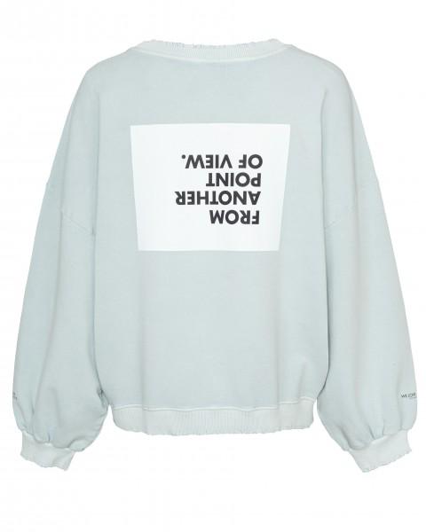 Sweatshirt mit Rückenprint Cynthia_View in Puder und Blue
