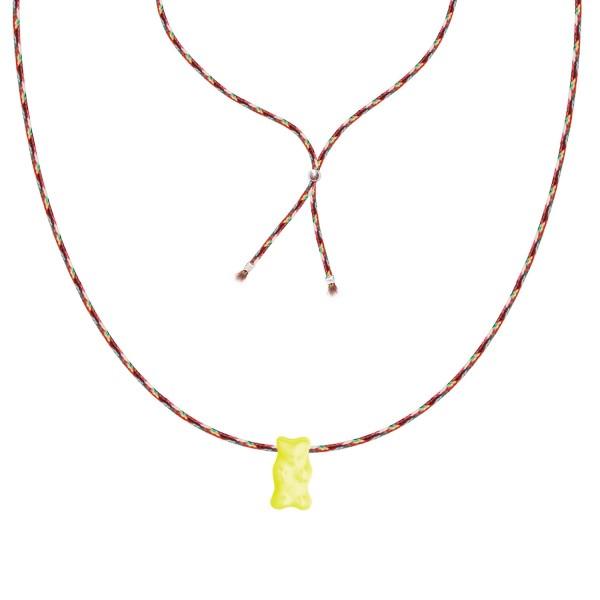 Gummibären Ketten mit Glasanhänger in Gelb