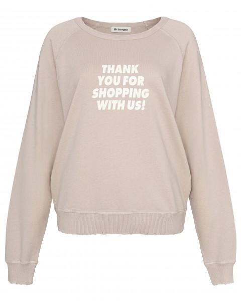 Sweatshirt mit Print vorne Stine_Thanks in Nude & Blue