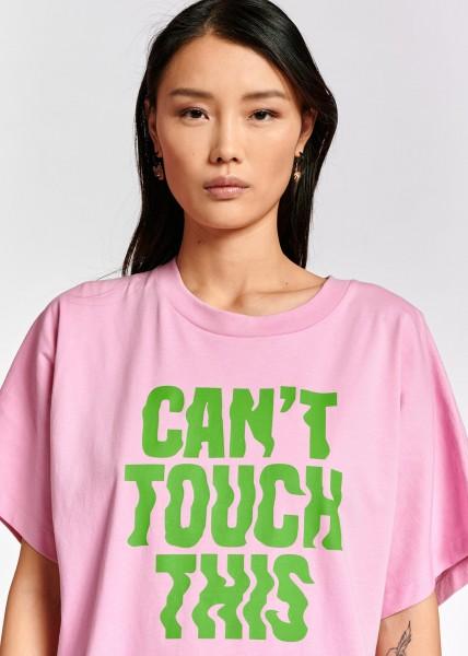 T-Shirt weite Form mit großem Aufdruck in light Pink