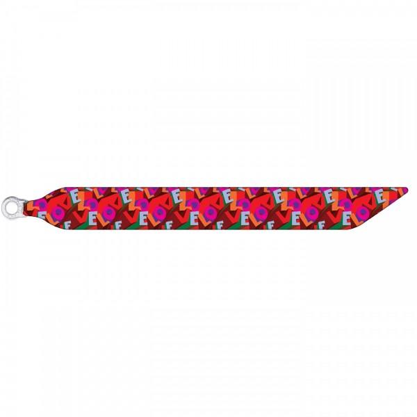 Seidenarmband mit einem versilberten Verschluss mit Muster CANDY LOVE
