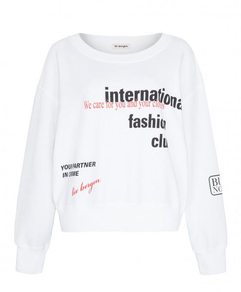 """Oversize Sweatshirt """"Brit Club"""" in Weiß mit Druck"""
