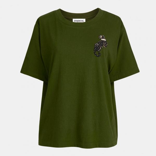 T-Shirt 1/2 Arm in Olive, Schwarz, Ecru
