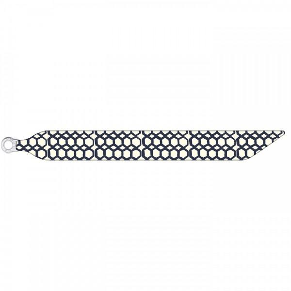 Seidenarmband mit einem versilberten Verschluss mit Muster POLYGONS