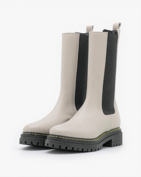 Combat Boot / Chelsea Boots NATALIE in Stein