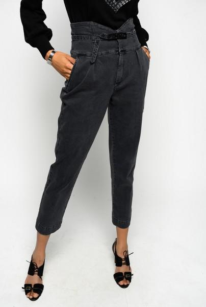 Chino Jeans mit Gürtel hoher Bund Ariel 4 Bustier