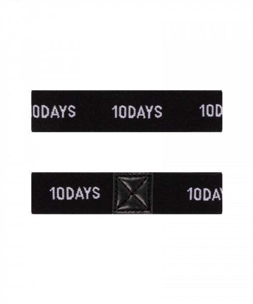 """Elastische Ärmelhalter mit Logo """"Elastic Arm Suspenders"""" Grau & Schwarz"""