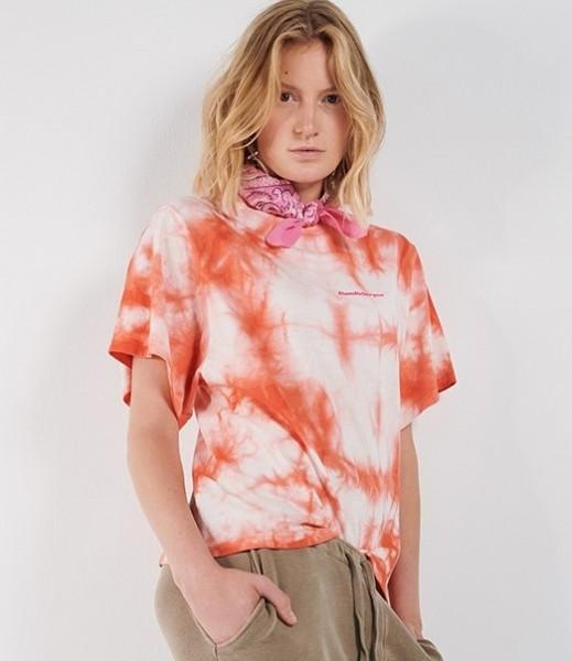 T-Shirt Maria Batik in Orangerot